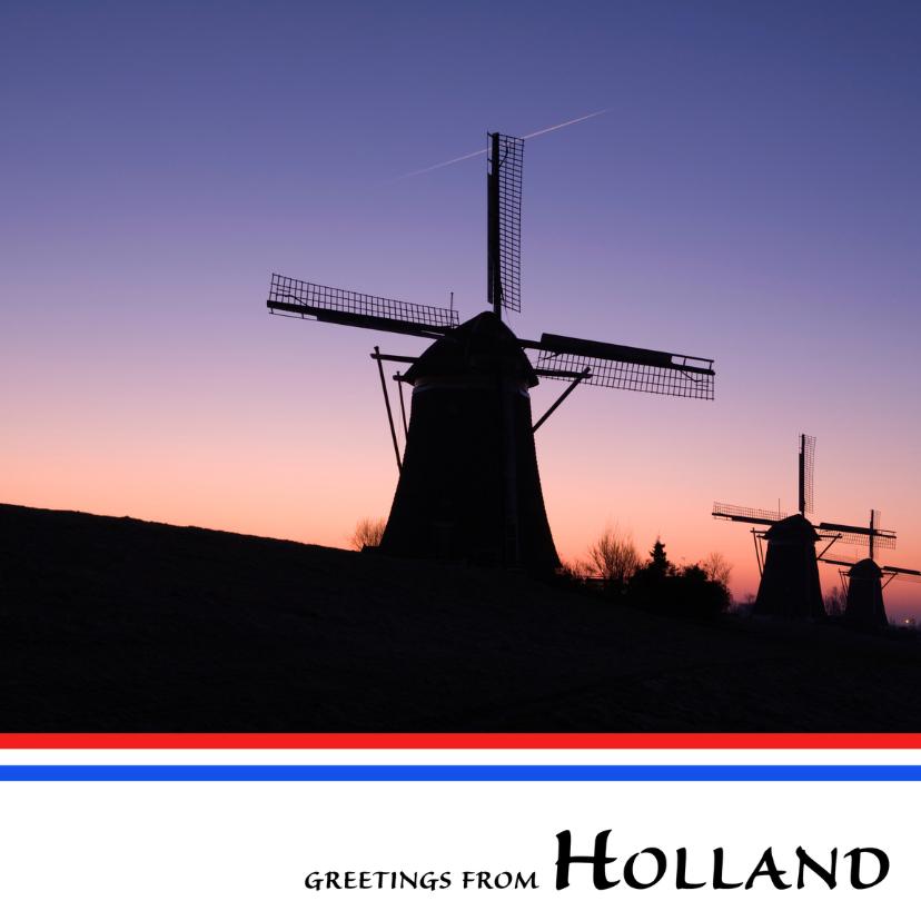 Ansichtkaarten - Greetings from Holland VII