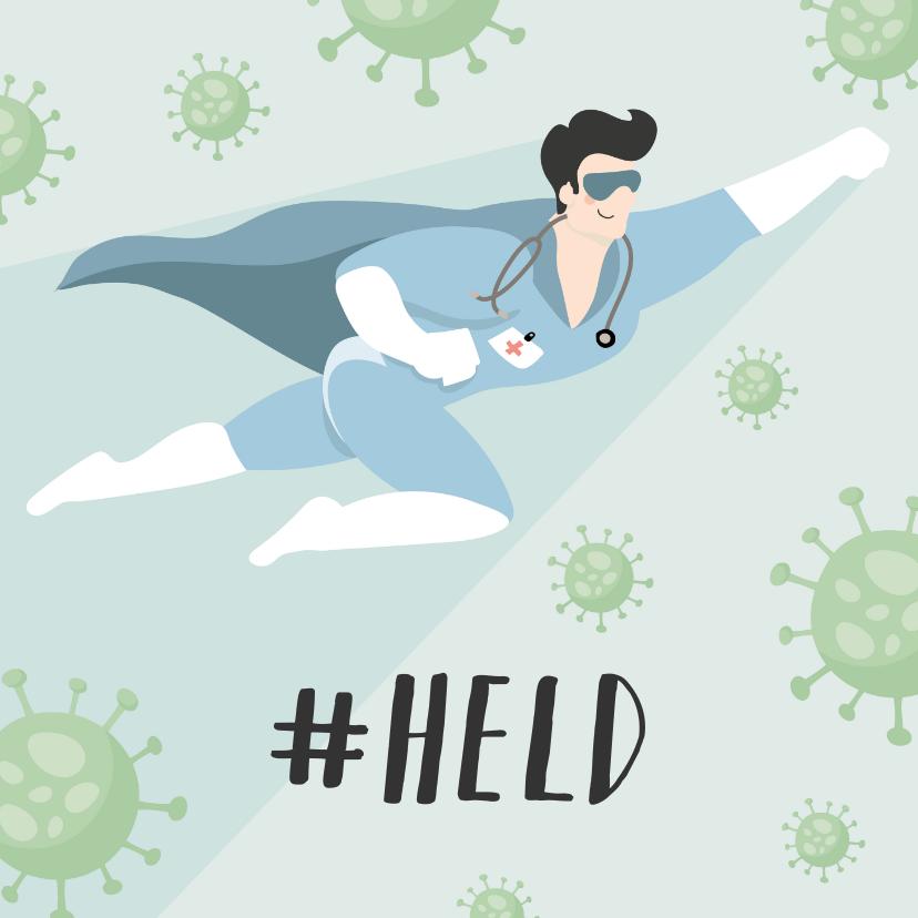 Bedankkaartjes - Bedank kaart voor alle helden verplegers