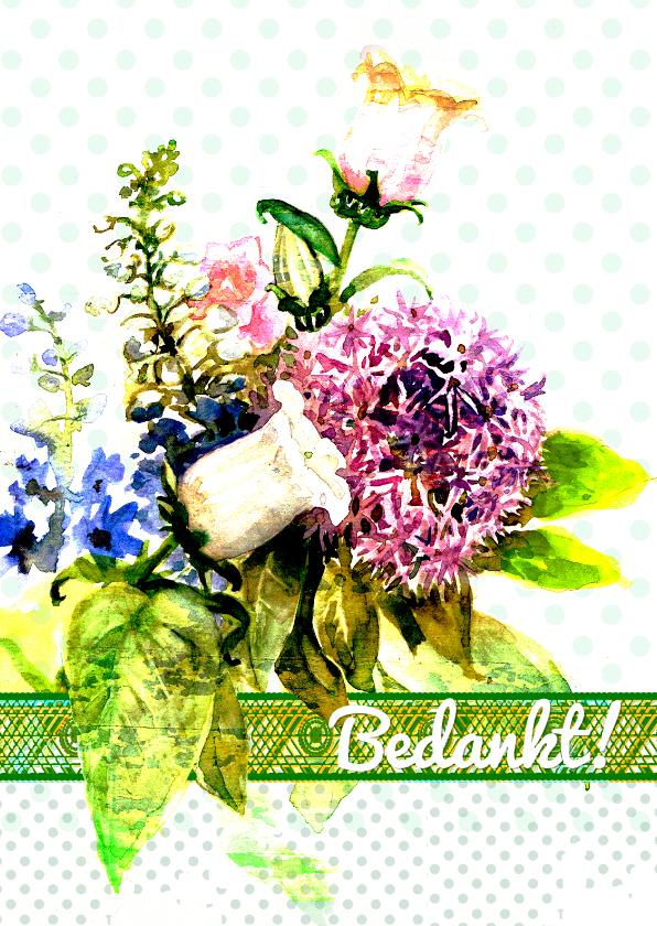 Bedankkaartjes - Bedankkaart, Bos bloemen