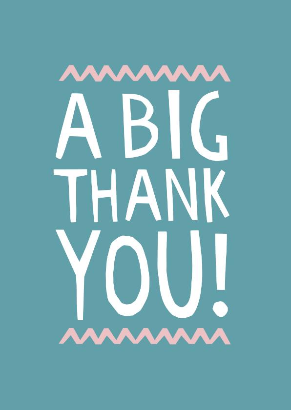 Bedankkaartjes - Bedankkaart internationaal a big thank you