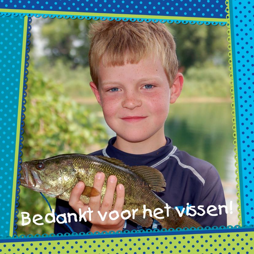 Bedankkaartjes - Bedankkaart Kader Eigen Foto
