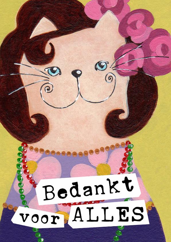 Bedankkaartjes - Bedankkaart Kat Lady