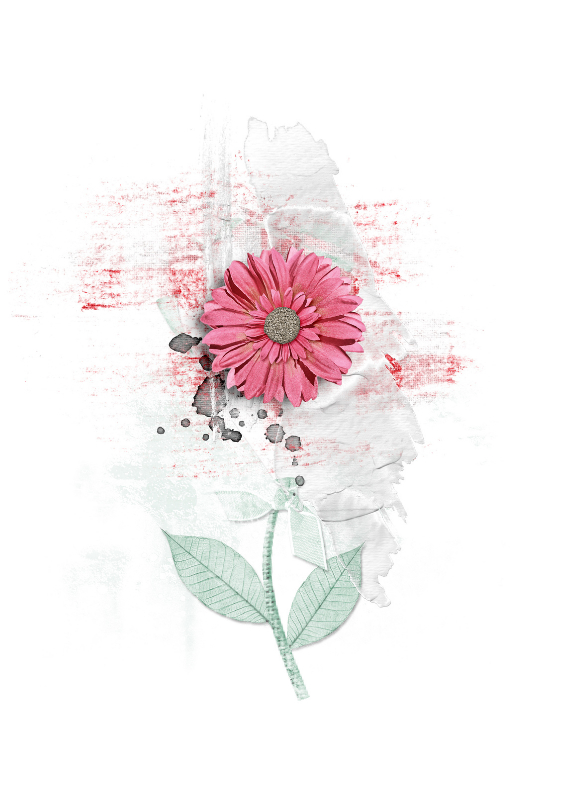 Bedankkaartjes - Bedankkaart Roze Bloem Bedankt