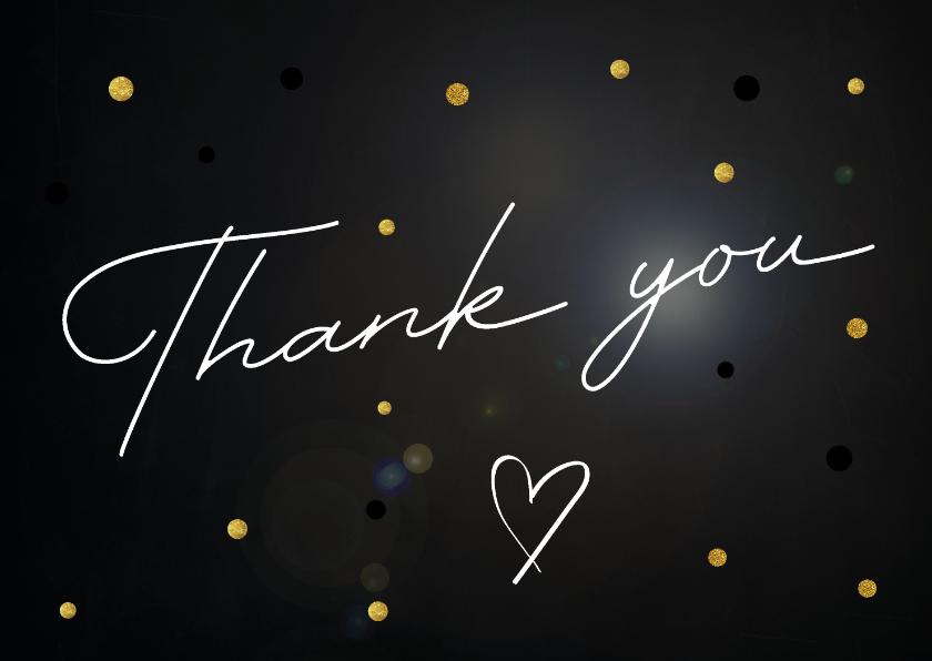 Bedankkaartjes - Bedankkaart Thank you op stijlvolle achtergrond