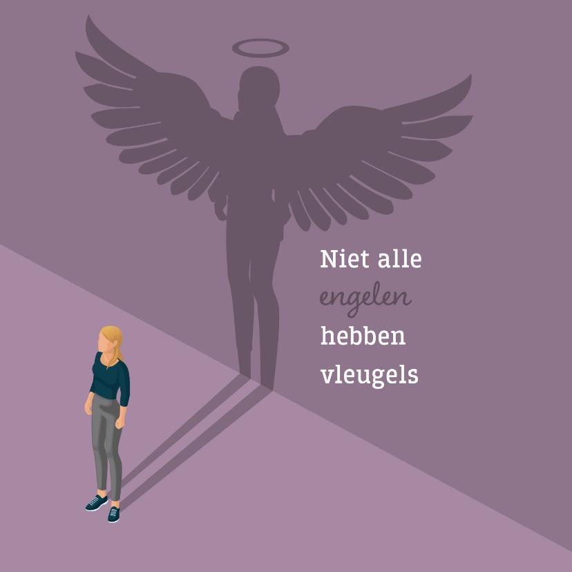 Bedankkaartjes - Bedankkaartje: voor een vrouwelijke engel