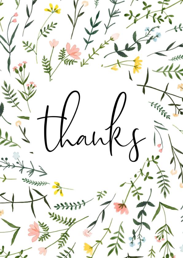 Bedankkaartjes - Bedankkaartjes   Thanks wilde bloemen