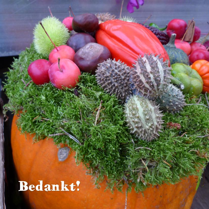 Bedankkaartjes - bedankt Herfst bloemstuk