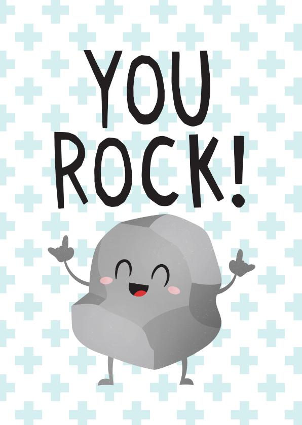 Bedankkaartjes - Bedankt hulpverleners grappig you rock rots
