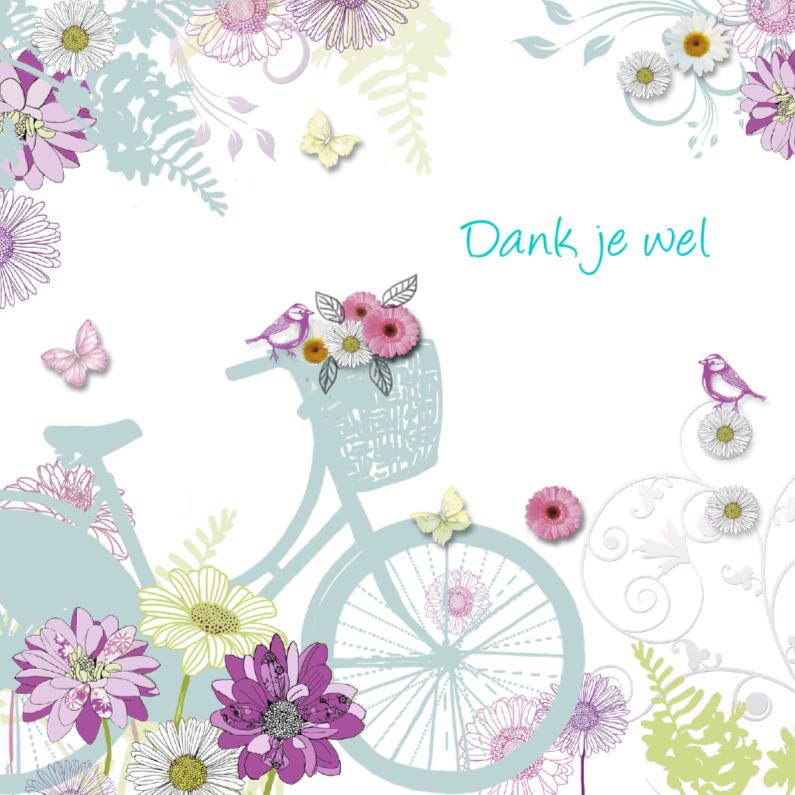 Bedankkaartjes - bedankt met leuke fiets