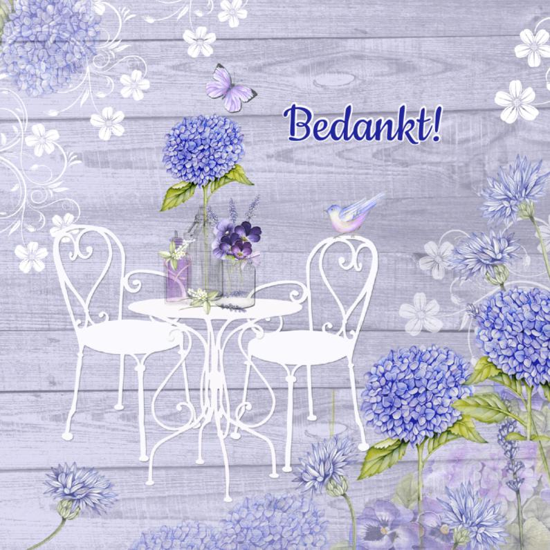 Bedankkaartjes - Bedankt tuinsetje bloemen