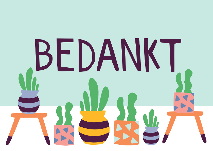 Bedankkaartjes - Bedanktkaart cactus vetplanten