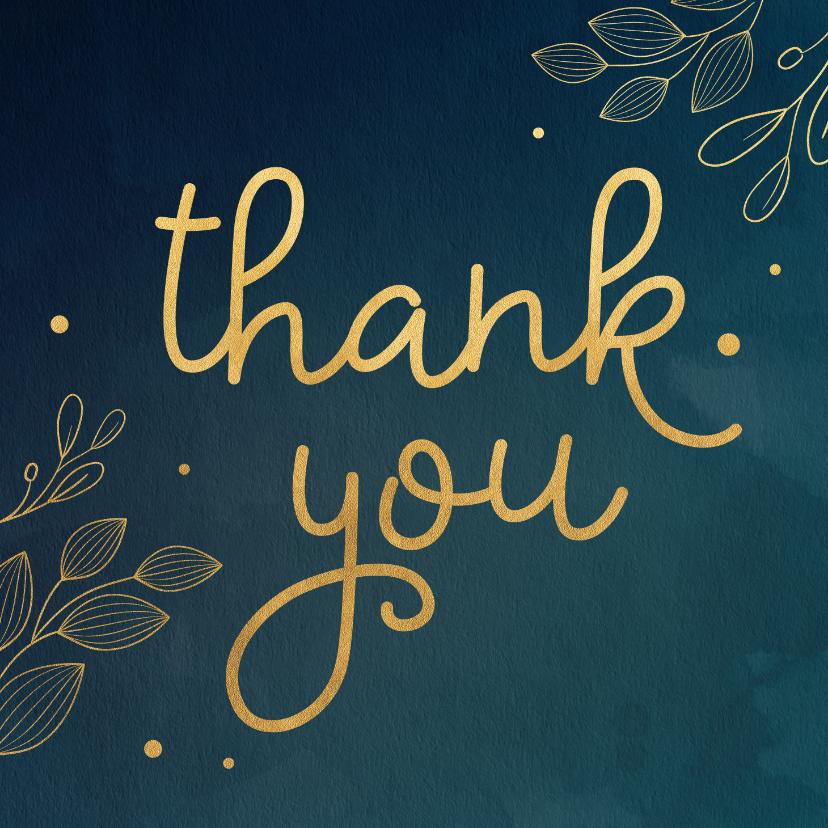 Bedankkaartjes - Bedanktkaartje botanisch goud