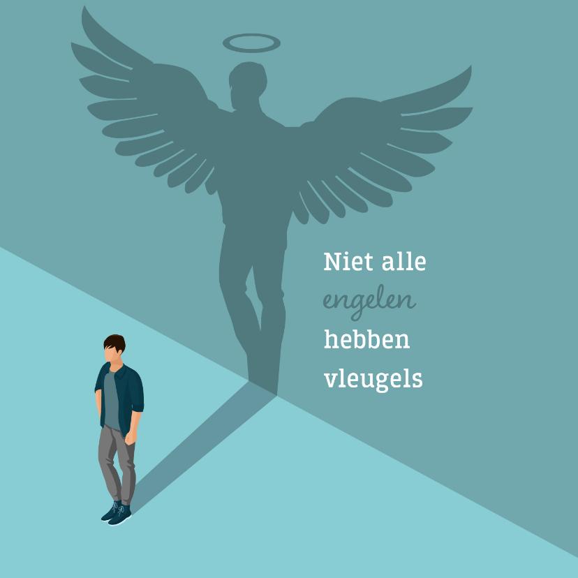 Bedankkaartjes - Bedanktkaartje: voor een engel zonder vleugels