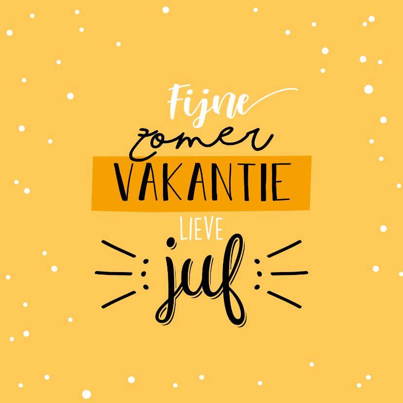 Bedankkaartjes - Fijne zomervakantie lieve juf
