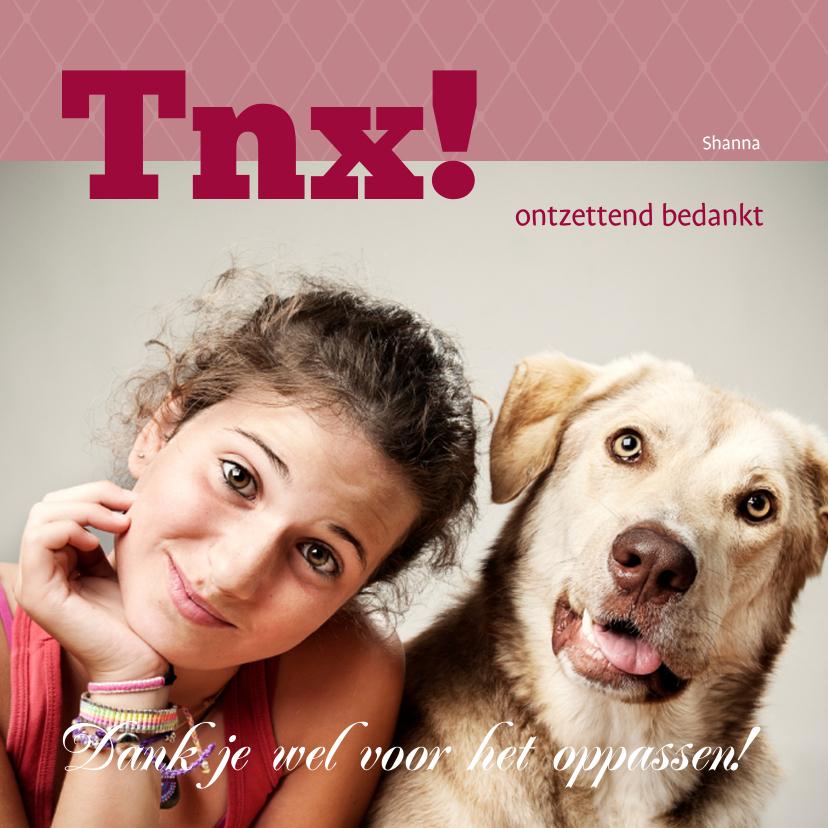 Bedankkaartjes - Foto 4kant Tnx! - BK