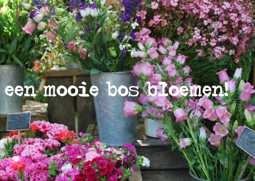Bedankkaartjes - fotokaart prachtige bloemen