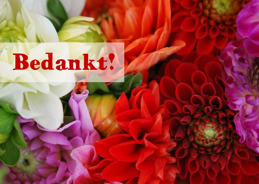 Bedankkaartjes - Kleurrijke bloemen av