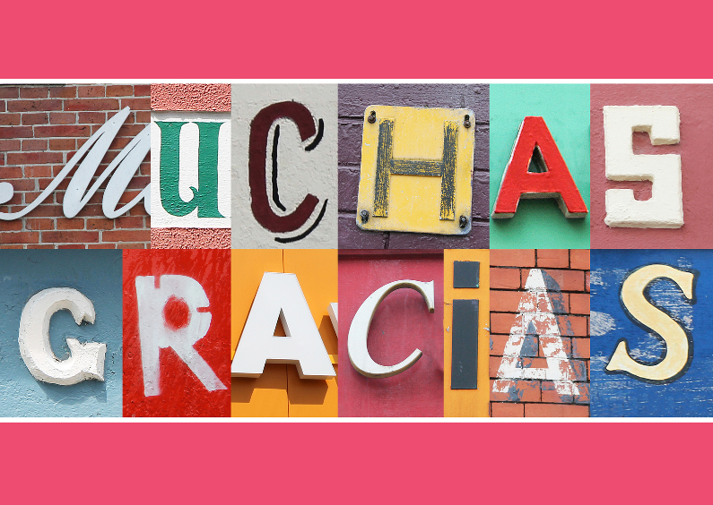 Bedankkaartjes - Letters Muchas gracias