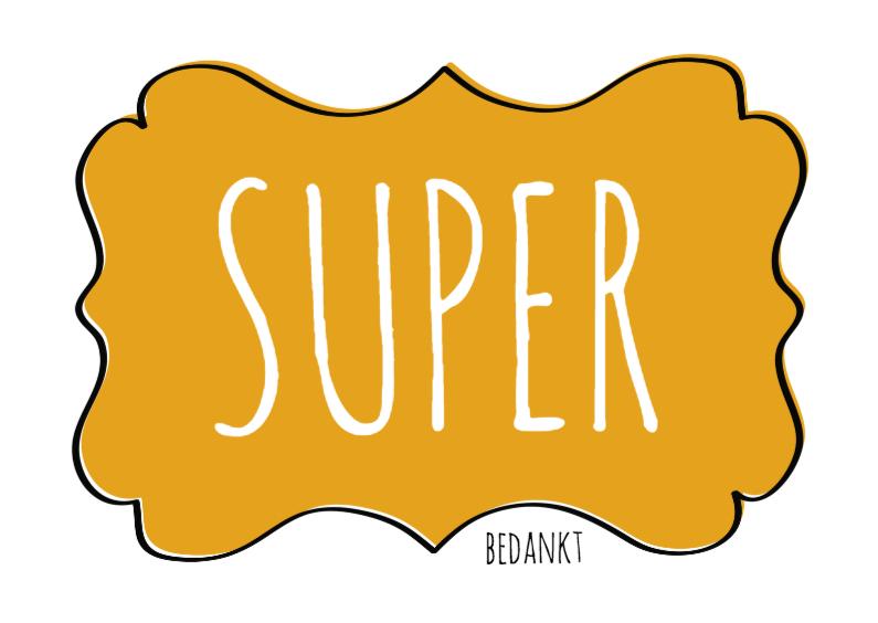 Bedankkaartjes - Super Bedankt Label - SG