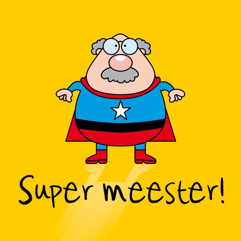 Bedankkaartjes - Super meester