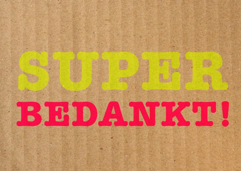 Bedankkaartjes - Superbedankt