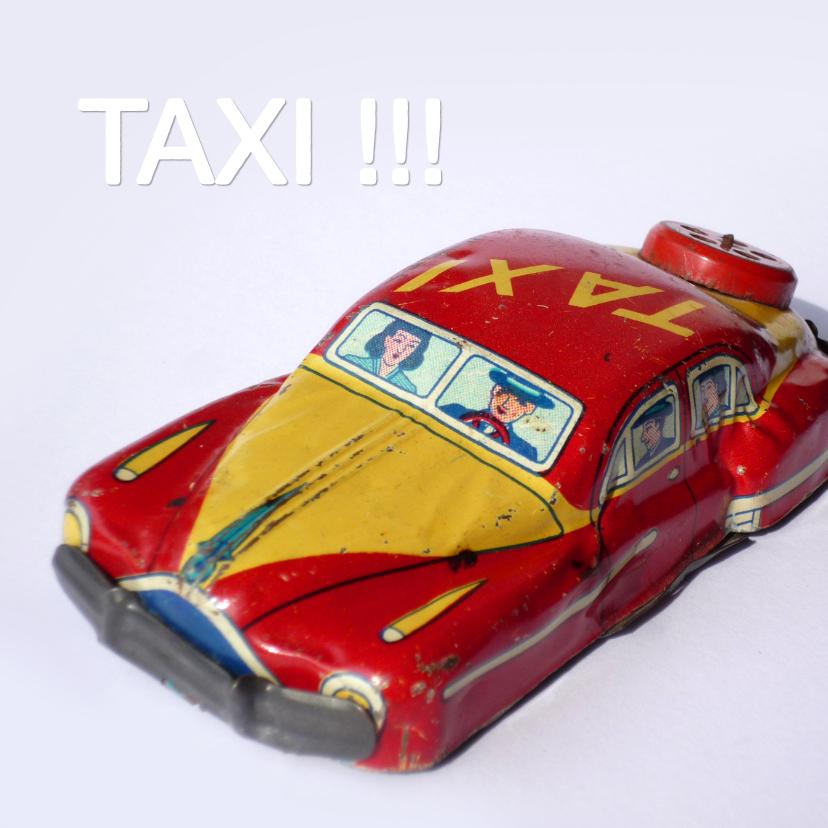 Bedankkaartjes - wenskaart Taxi blik