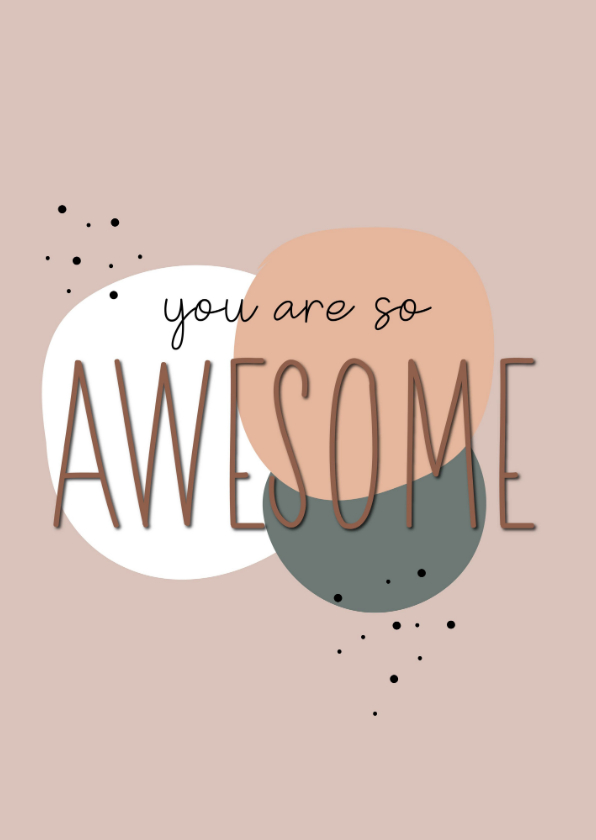 Bedankkaartjes - You are so awesome