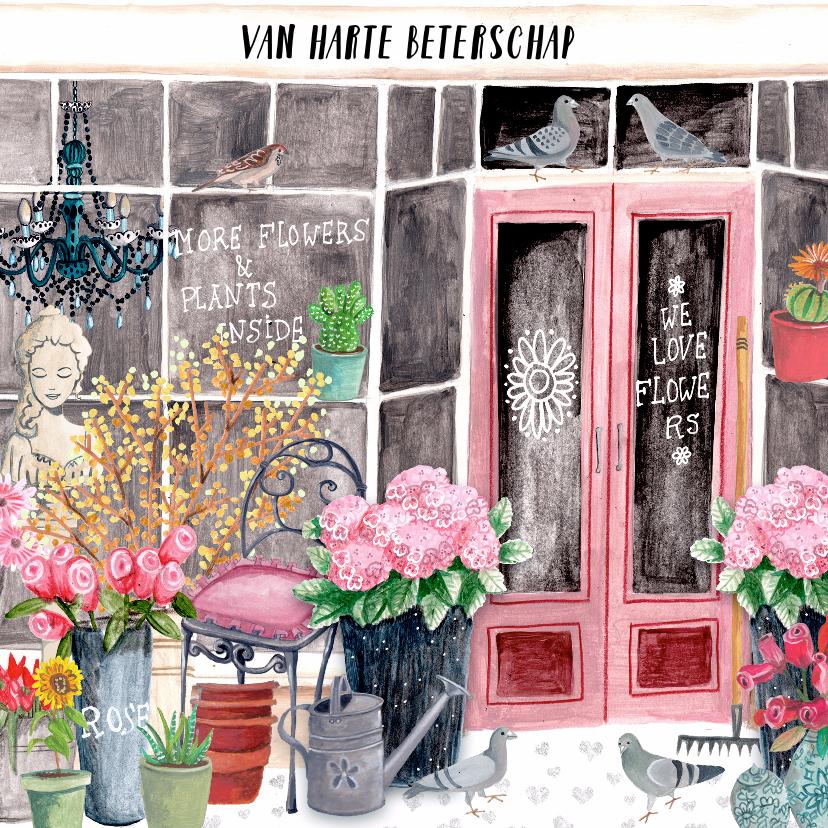 Beterschapskaarten - Beterschap bloemenwinkel