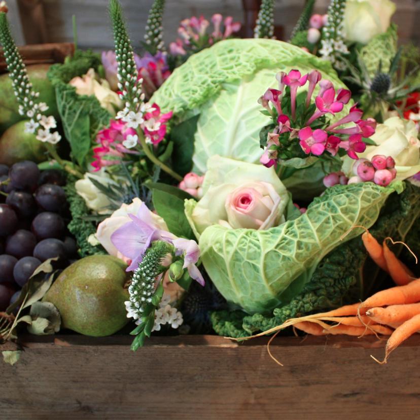 Beterschapskaarten - Beterschap fruit en groente mand