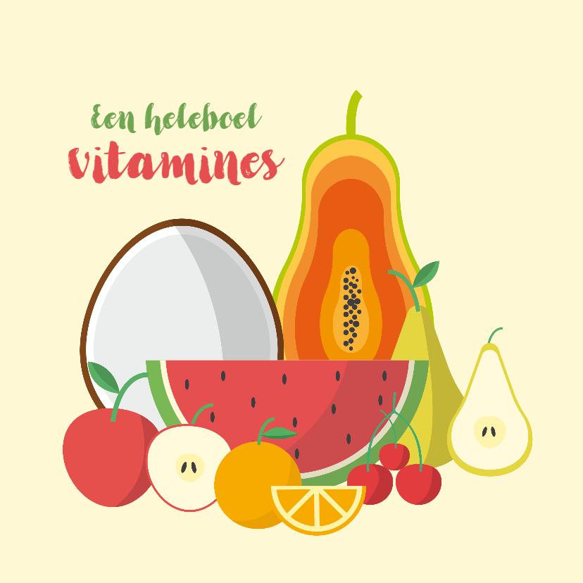 Beterschapskaarten - beterschap fruit vitamines