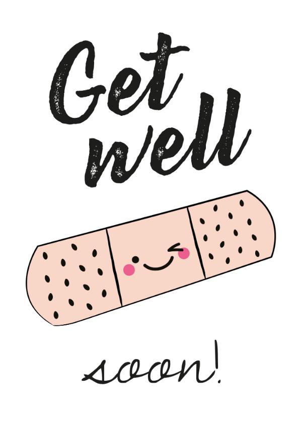 Beterschapskaarten - Beterschap Get well soon kaartje