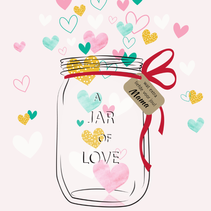 Beterschapskaarten - Beterschap Jar of love - SV