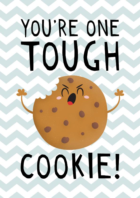 Beterschapskaarten - Beterschap kind jongen tough cookie humor