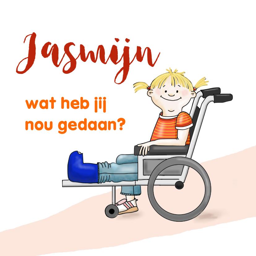 Beterschapskaarten - Beterschap meisje rolstoel
