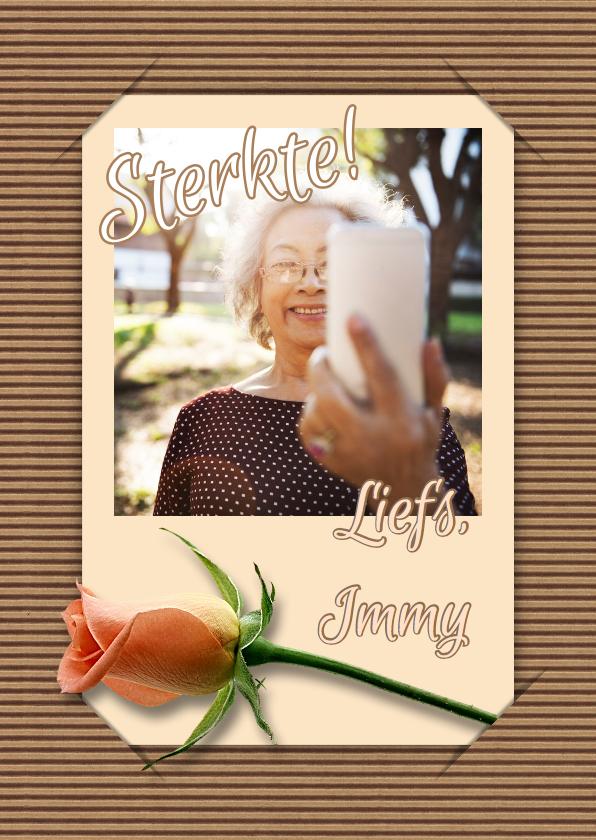 Beterschapskaarten - Beterschap selfie en bloem RB