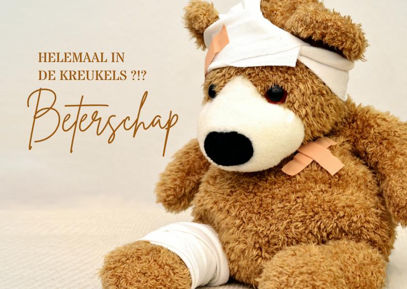 Beterschapskaarten - Beterschap teddybeer