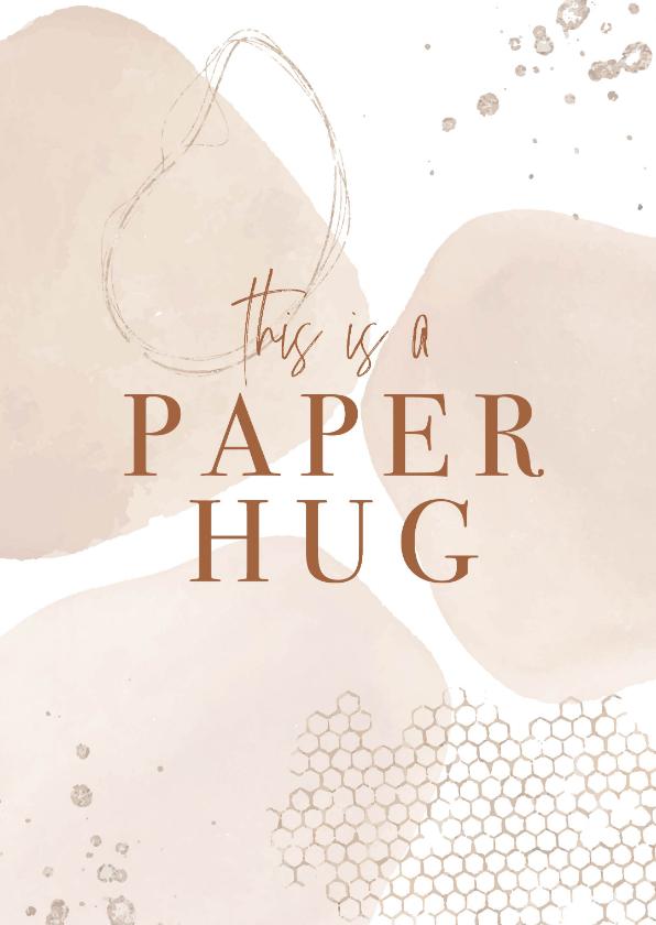 Beterschapskaarten - Beterschap , This is a paper hug