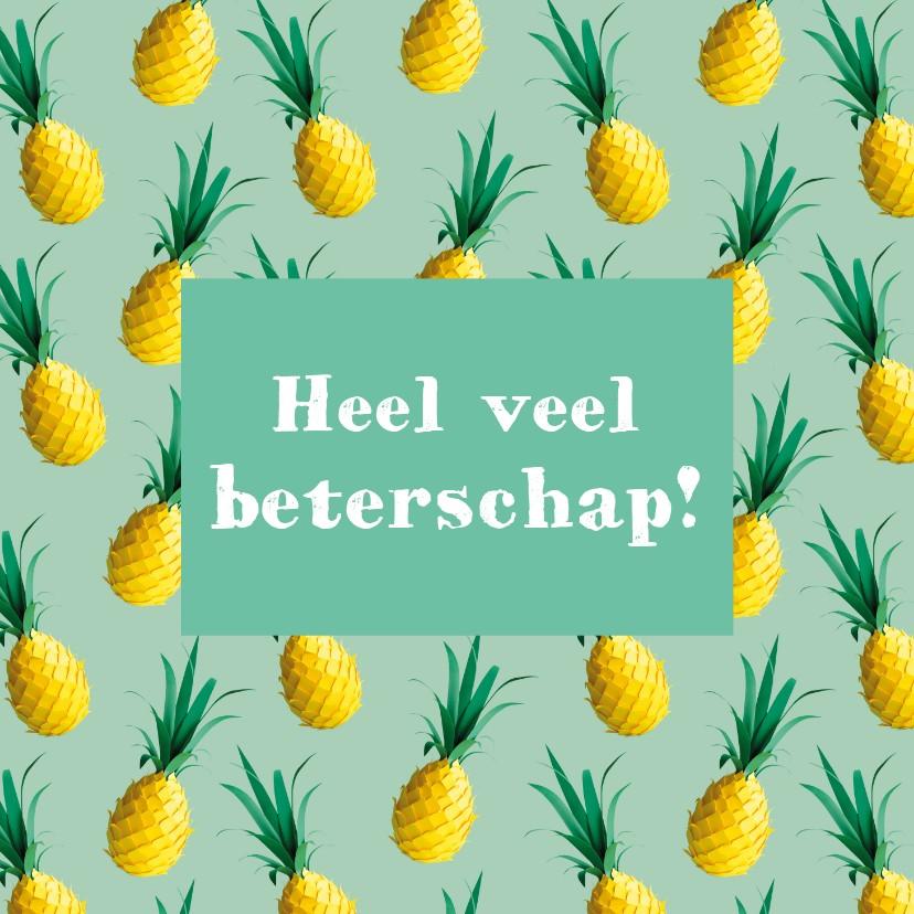 Beterschapskaarten - Beterschapskaart ananas