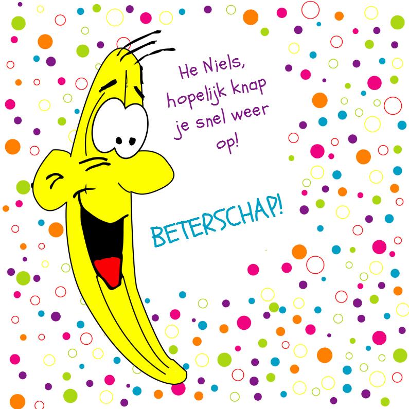 Beterschapskaarten - Beterschapskaart banaan - SZ