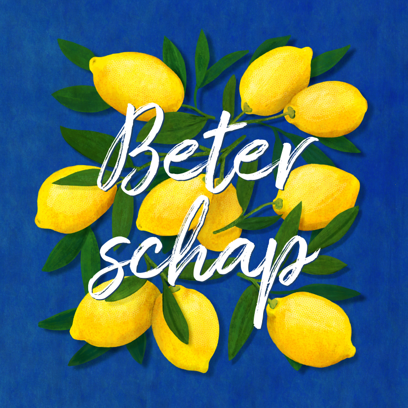 Beterschapskaarten - Beterschapskaart citroenen