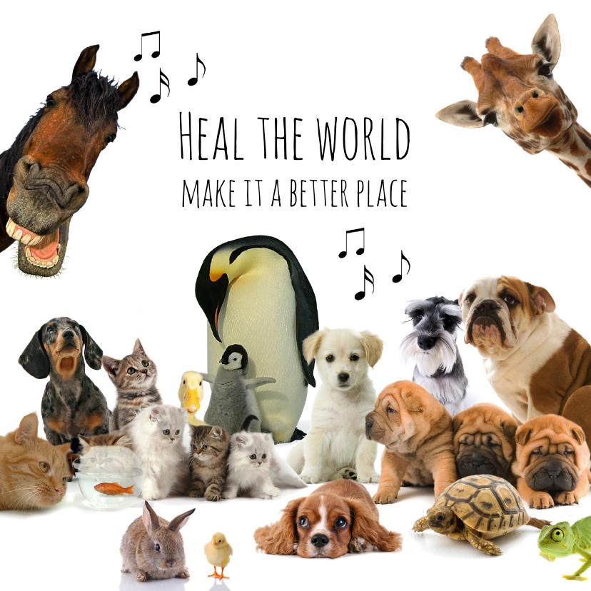 Beterschapskaarten - Beterschapskaart heal the world dieren
