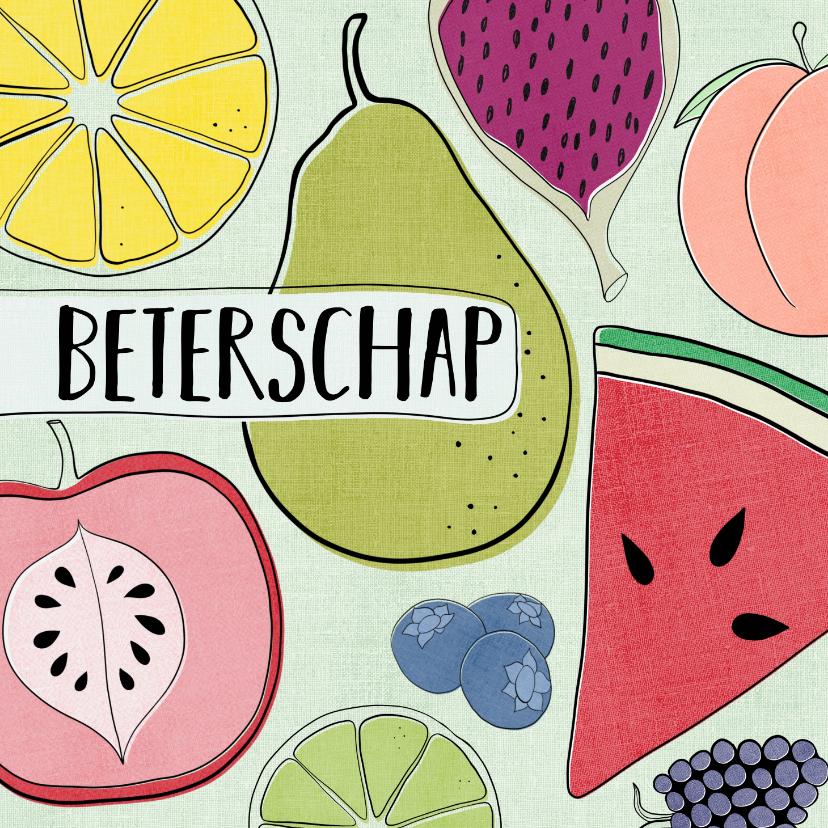 Beterschapskaarten - Beterschapskaart - Kleurrijk & Fruitig
