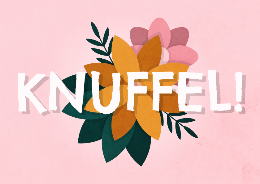 Beterschapskaarten - Beterschapskaart knuffel met bloemen
