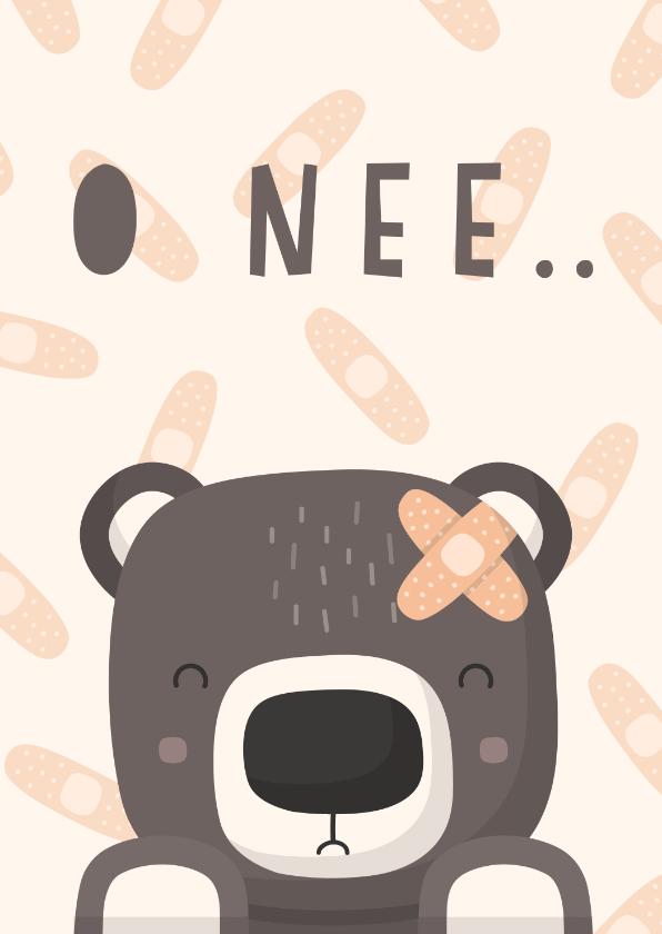Beterschapskaarten - Beterschapskaart lieve beer met pleister