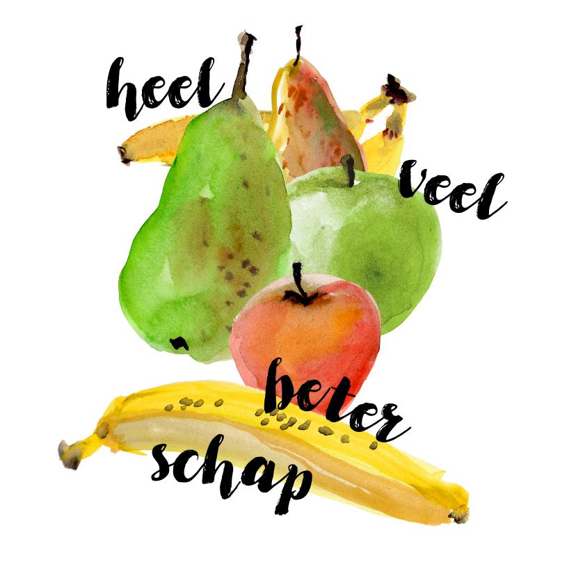 Beterschapskaarten - Beterschapskaart met fruit illustratie