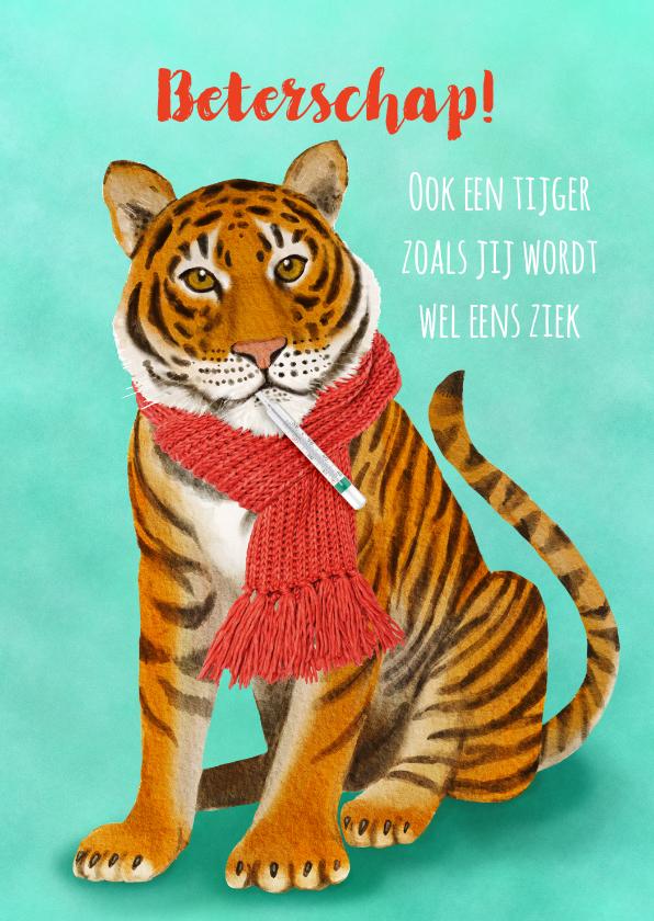 Beterschapskaarten - Beterschapskaart tijger