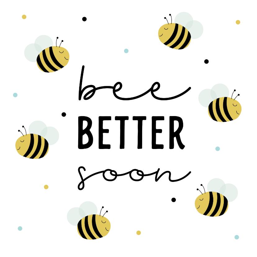 Beterschapskaarten - Beterschapskaartje met schattige bijtjes