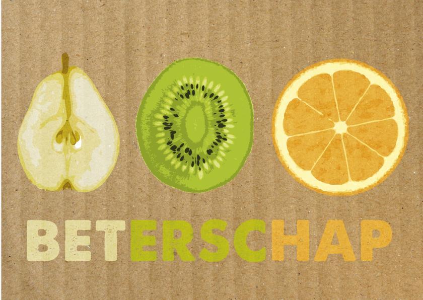 Beterschapskaarten - fruitkaart, beterschap