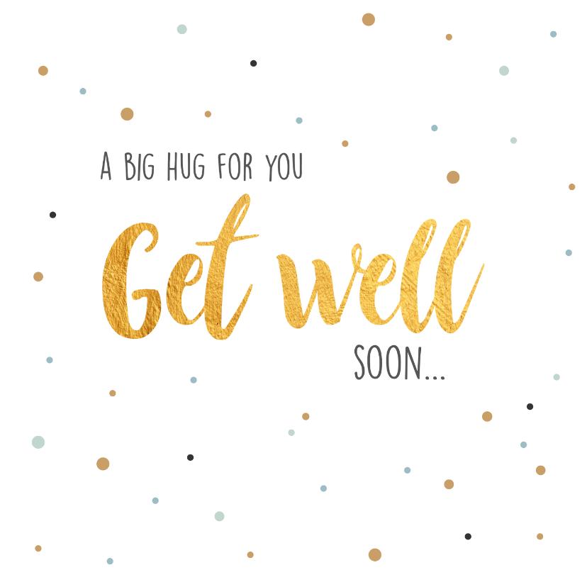 Beterschapskaarten - Get well soon... beterschapskaart