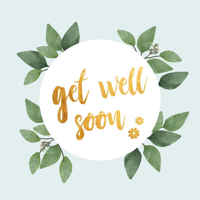 Beterschapskaarten - Get well soon - botanische beterschapskaart